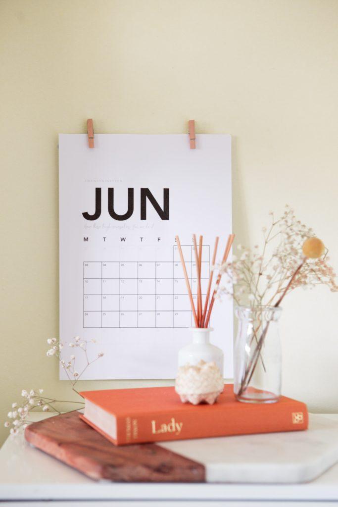 Calendario como alternativa al papel de regalo